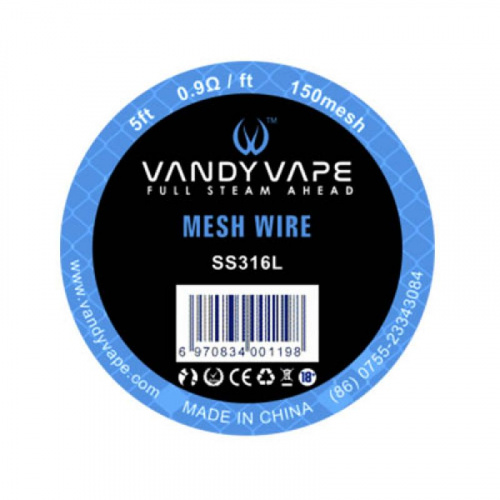 Сетка Vandy Vape SS316L MESH WIRE 150mesh 5ft 1,5м в MVAPE.BY
